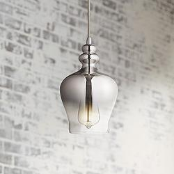 "Calosta 6 1/2"" Wide Chrome Mini Pendant"
