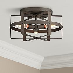 "Varaluz Reel 16 1/2""W Rustic Bronze Steel Ceiling Light"