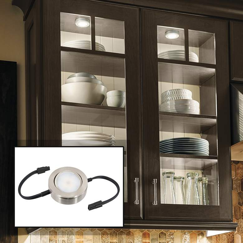 MVP Nickel Single Under Cabinet LED Puck Light