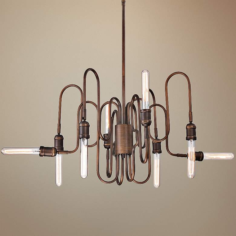 "Briggs 39""W Oil-Rubbed Bronze 8-Light Chandelier"