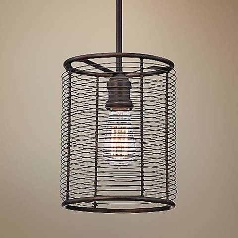 "Eurofase Terra 8"" Wide Bronze Mini Pendant Light"