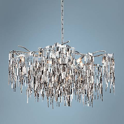 "Eurofase Elfassy 31 1/2"" Wide Chrome 12-Light Chandelier"