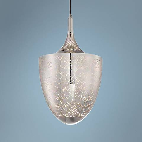 "Eurofase Rotem 12"" Wide Silver Mini Pendant Light"