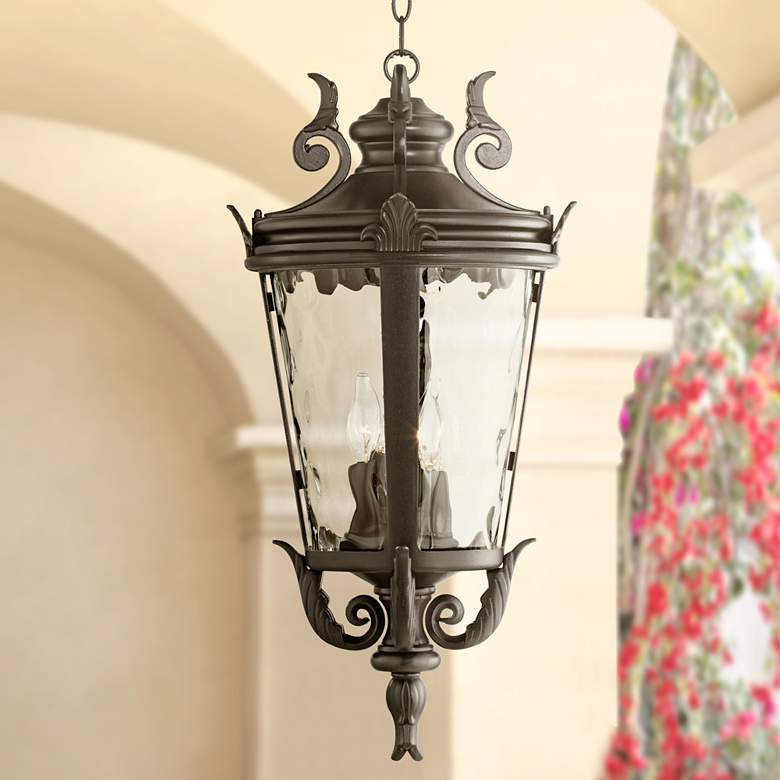 "Casa Marseille™ 26 1/4"" High Black Outdoor Hanging Light"