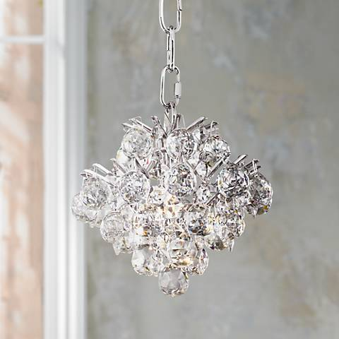 Essa 8 wide chrome crystal mini chandelier 8f159 lamps plus essa 8 wide chrome crystal mini chandelier aloadofball Images