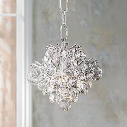 "Essa 8"" Wide Chrome - Crystal Mini Chandelier"