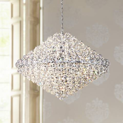 "Vienna Full Spectrum Essa 35 1/2"" Wide Crystal Pendant"