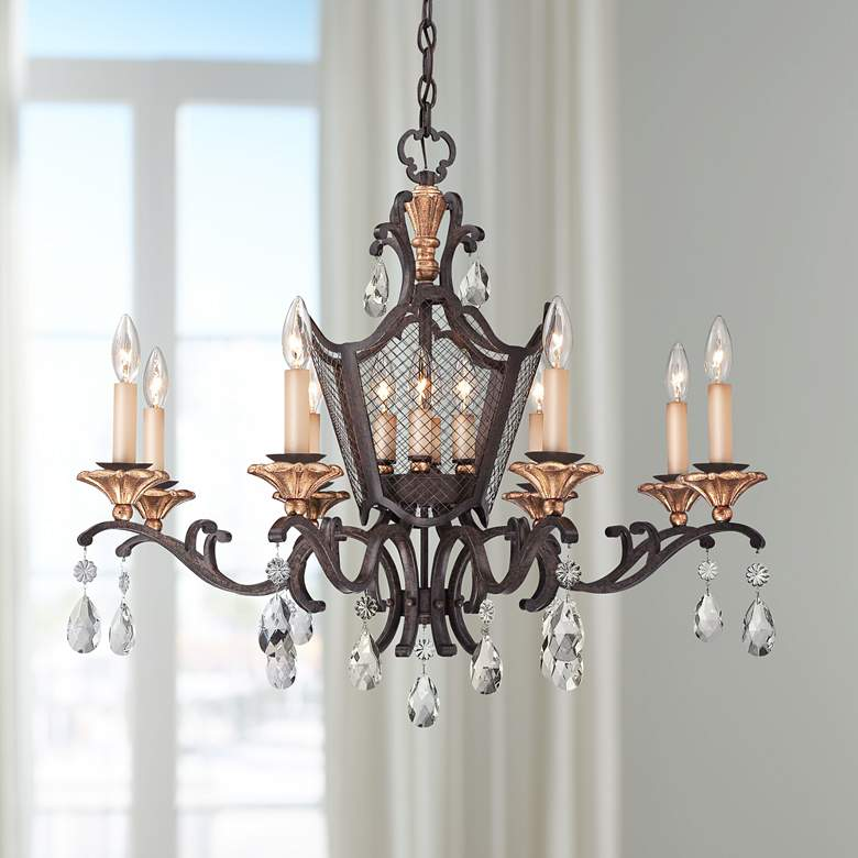 "Cortona 32"" Wide 12-Light French Bronze Chandelier"