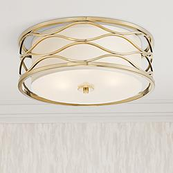 "Austen 16"" Wide Plated Gold Ceiling Light"