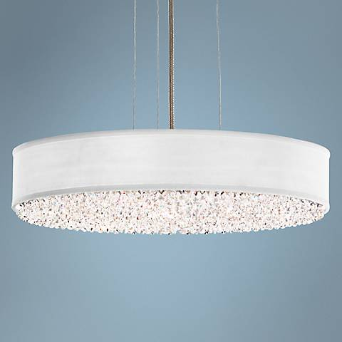 "Eclyptix 6-Light 4"" High Crystal Pendant Light"