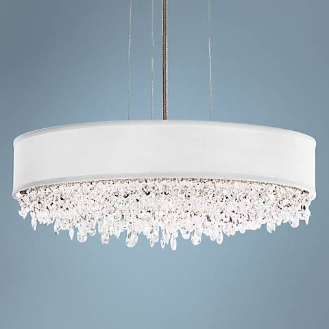 "Eclyptix 6-Light 6 1/2"" High Crystal Pendant Light"
