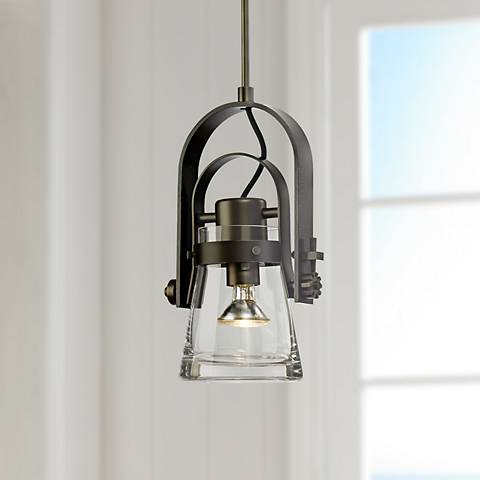 "Hubbardton Forge Erlenmeyer 8 1/4""W Dark Smoke Mini Pendant"