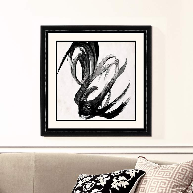"Paint It Black II 25 1/2"" Square Framed Wall Art"