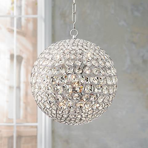 "Possini Euro Persis 13 3/4"" Wide Crystal Sphere Pendant"