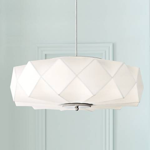 "Possini Euro Glacier 20"" Wide Contemporary White Pendant"