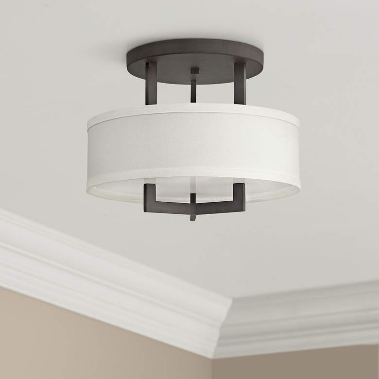 "Hinkley Hampton 15"" Wide Buckeye Bronze Ceiling Light"