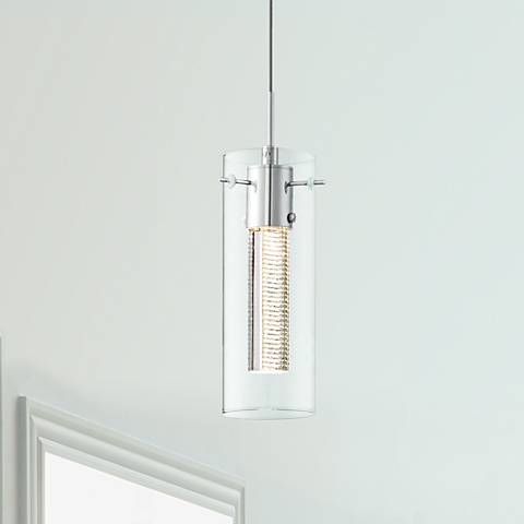 "Possini Euro Zuri Chrome 3""W Crystal LED Mini Pendant"