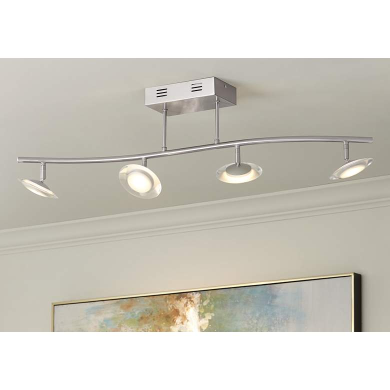 Pro Track® Aldrin 4-LED Satin Nickel Track Fixture