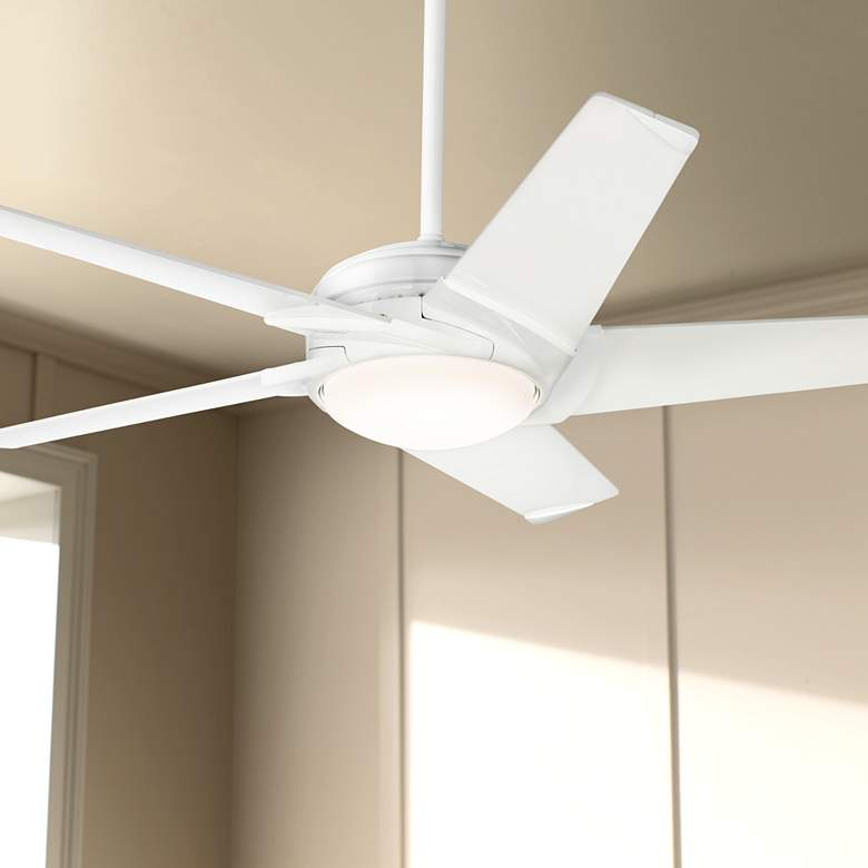 "54"" Casablanca Stealth DC Snow White LED Ceiling Fan"