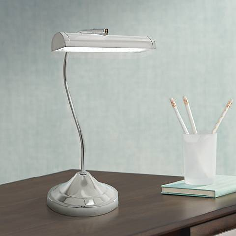 Lite Source Cady Chrome LED Piano Desk Lamp