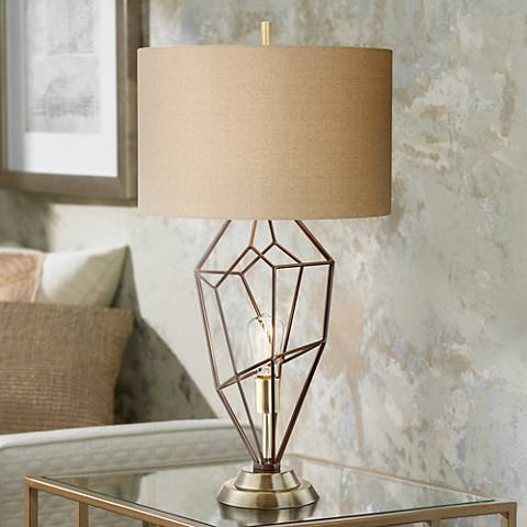 Franklin Iron Works Shane Nightlight Table Lamp