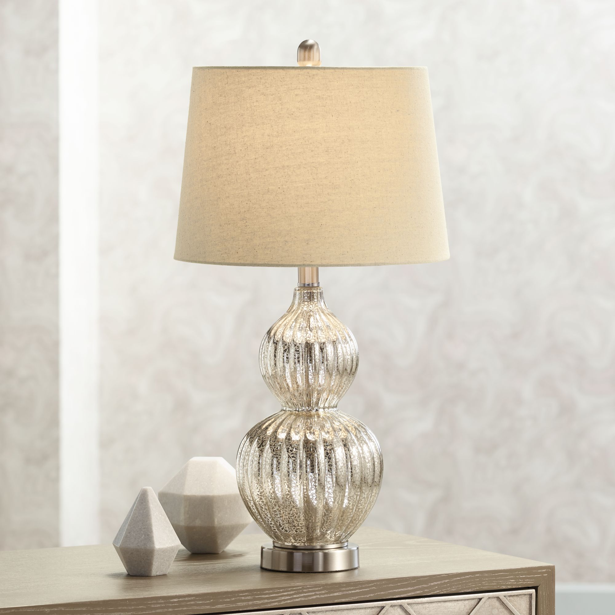 Lili Fluted Mercury Glass Table Lamp