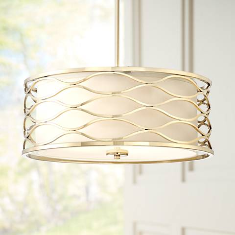 "Austen 20"" Wide Plated Gold Pendant Light"