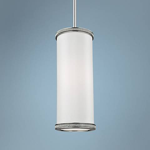 "Feiss Pave 5 1/2"" Wide Polished Nickel Mini Pendant"