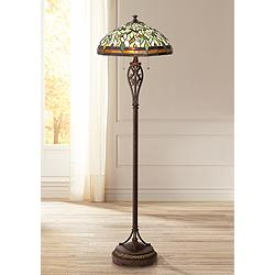 Leaf and Vine II Tiffany Style Floor Lamp