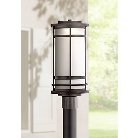 "Possini Euro Clemson 18 3/4""H Bronze LED Outdoor Post Light"