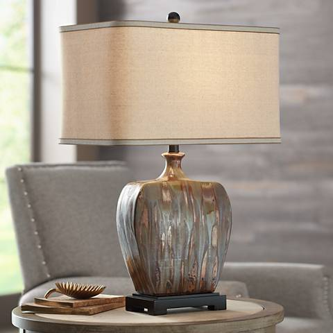 Julius Copper Drip Ceramic Table Lamp