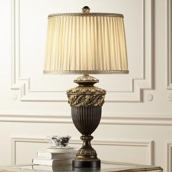 Florencio Spanish Bronze Urn Table Lamp