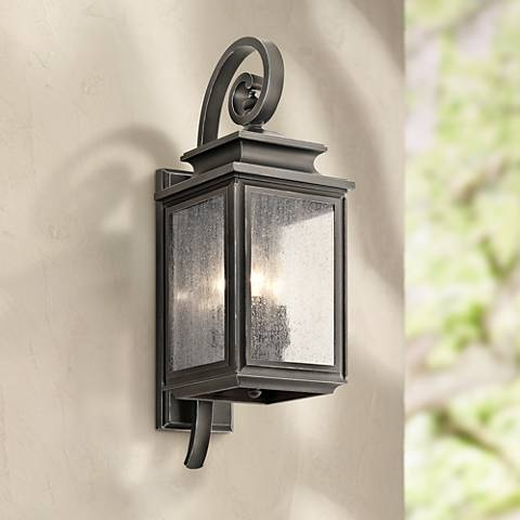 "Kichler Wiscombe Park 21 3/4""H  Bronze Outdoor Wall Light"