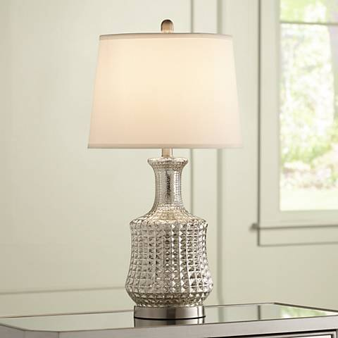 Jody Long Neck Mercury Glass Table Lamp