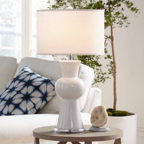 Eloise White Ceramic Table Lamp 8j978 Lamps Plus