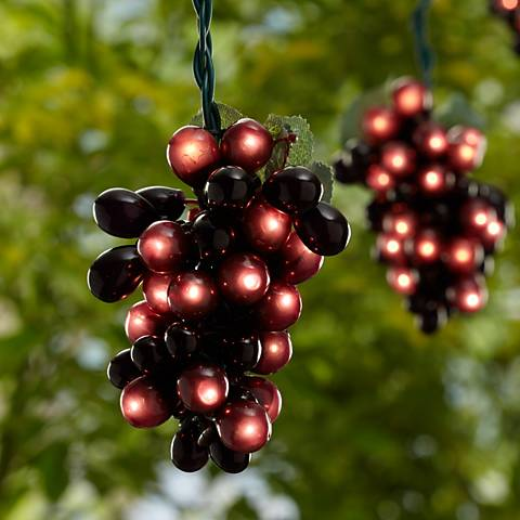 Burgundy 100 Micro-Bulb 5-Cluster Grapevine String Light