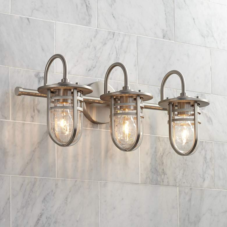 "Kichler Caparros 24""W 3-Light Brushed Nickel Bath Light"