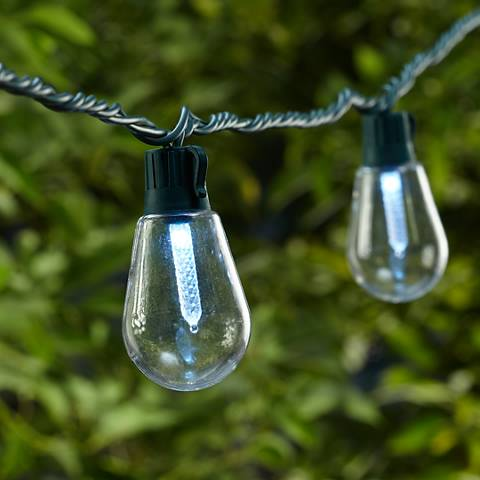 Cool White Old Fashioned Bulb 20-LED String Light