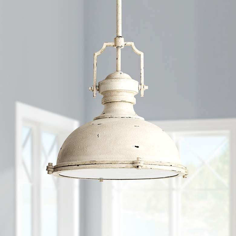"Quorum 20""W Persian White Pendant Light"