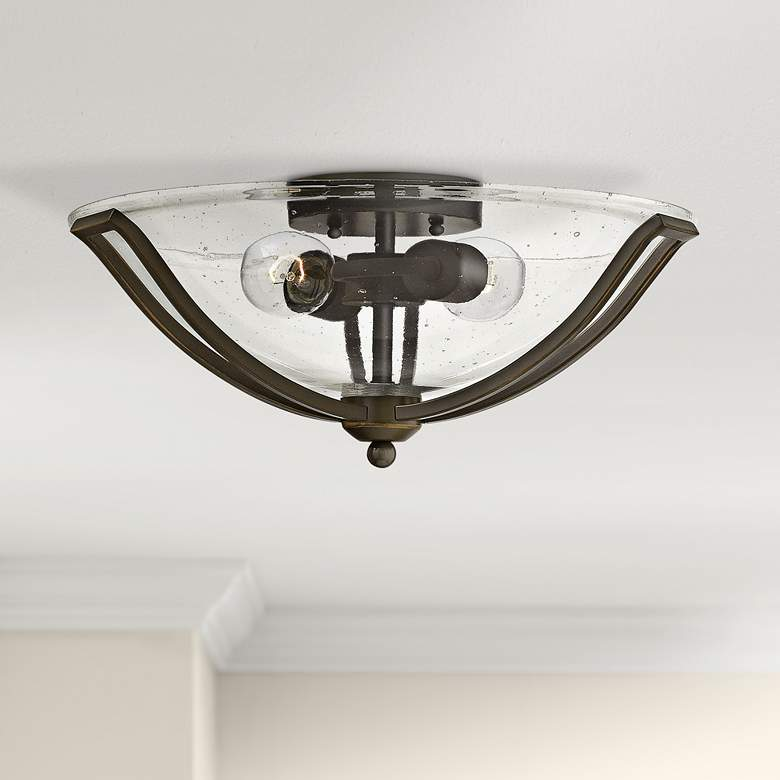 "Bolla 16 3/4"" Wide Glass Bowl Ceiling Light"