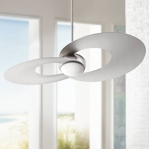 52 innovation brushed nickel led ceiling fan 8k437 lamps plus