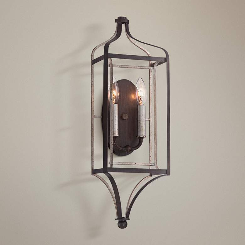"Astrapia 22"" High Dark Rubbed Sienna 2-Light Wall"