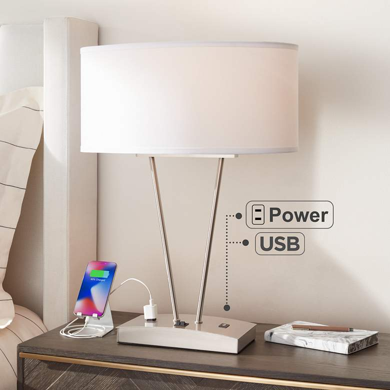 Leon Metal Table Lamp with USB Port and