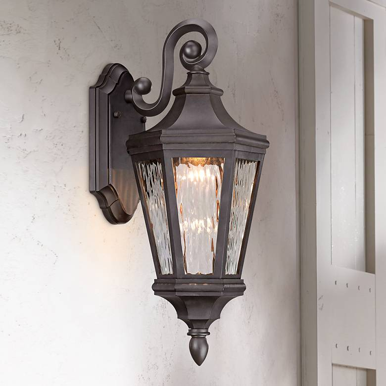 "Handforde Pointe LED 19""H Oiled Bronze Outdoor Wall Light"