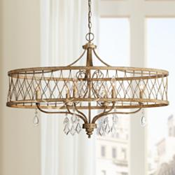 "West Liberty 36"" Wide Olympus Gold 6-Light Chandelier"