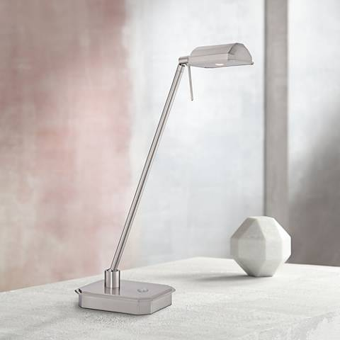 George Kovacs Ashton Brushed Nickel Led Desk Lamp