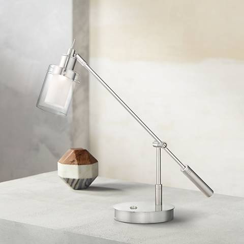 George Kovacs Crawford Brushed Nickel LED Desk Lamp
