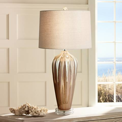Loren Ivory Drip Ceramic Table Lamp 8k691 Lamps Plus
