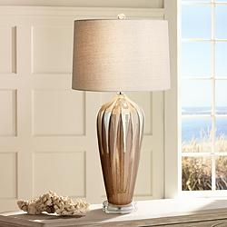 Loren Ivory Drip Ceramic Table Lamp