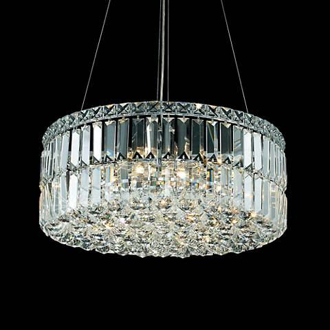"Maxim 20"" Wide Chrome 12-Light Pendant"